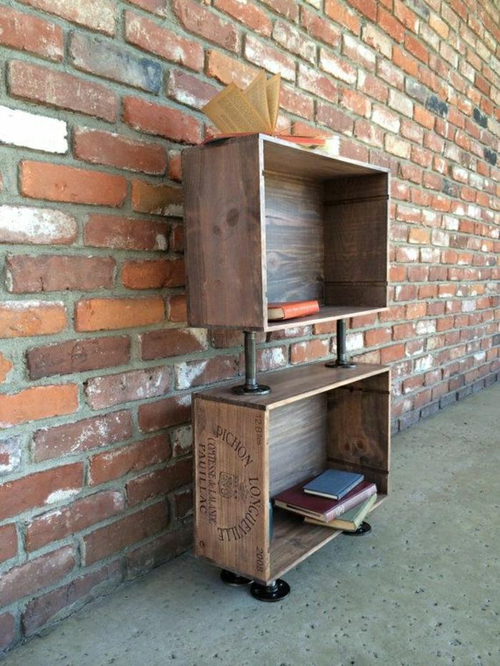 Bücherregale-Weinkisten-Holz-vintage-Nachttisch-funktionell