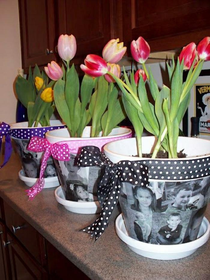 Blumentöpfe-Tulpen-Kinder-Fotos-Muttertag-Geschenk-Idee