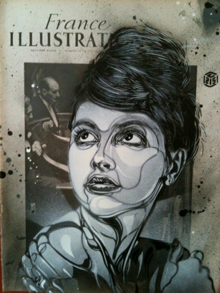 C215-Graffiti-Künstler-street-art-schwarz-weiß-weibliches-Gesicht