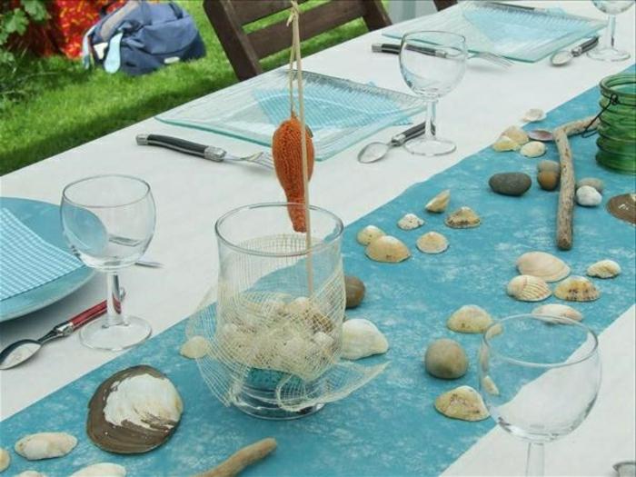 Deko mit muscheln f r eine frische ausstattung - Glaser dekorieren mit sand ...