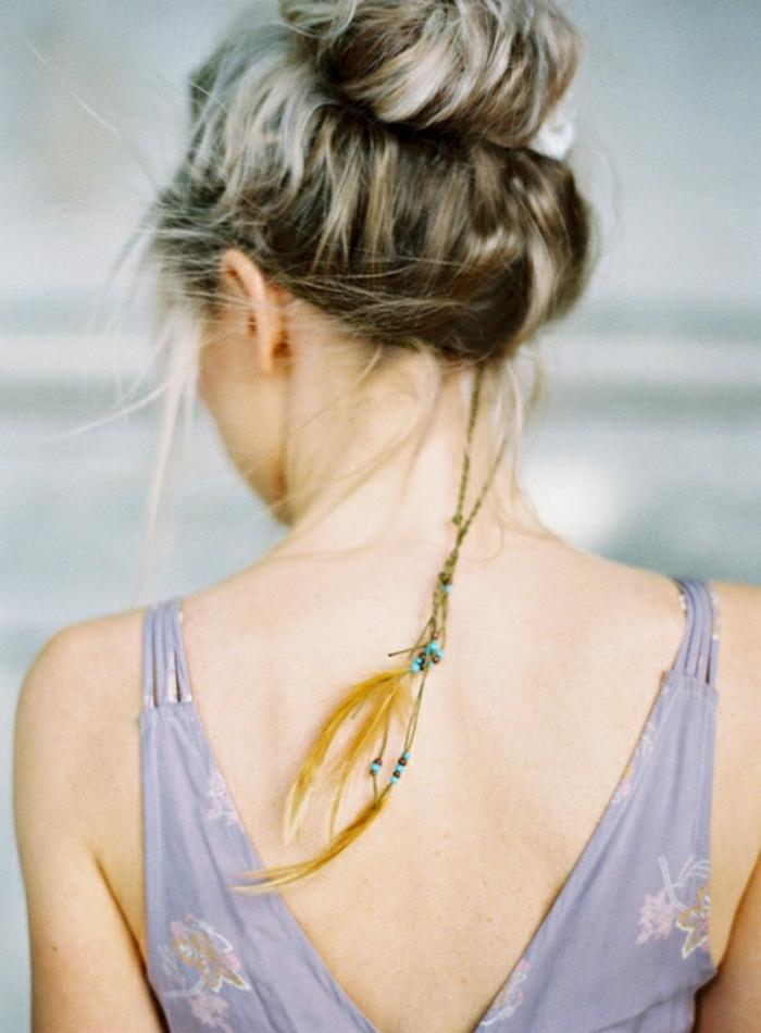 Feder-Accessoire-Haare-Hippie-Mode