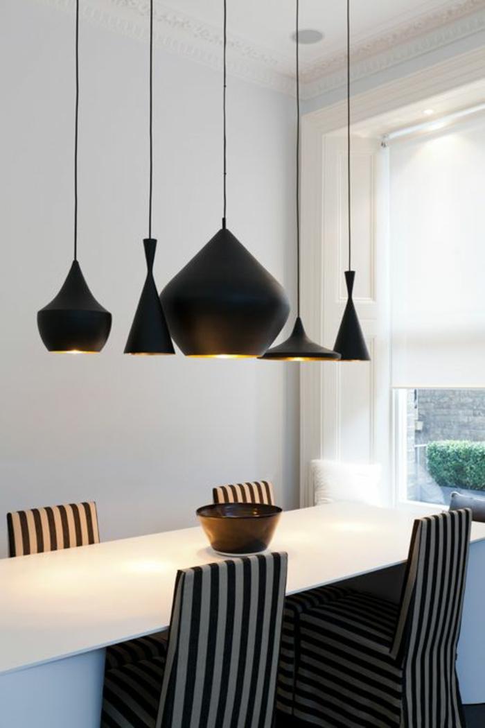 Hängeleuchten-für-Esszimmer-schwarz-weiß