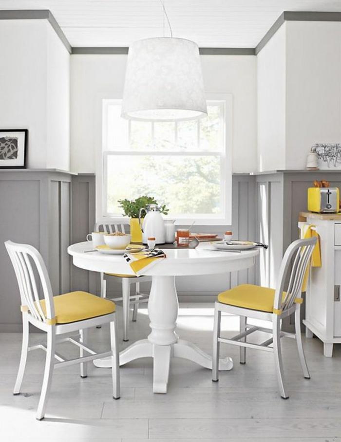 Hängeleuchten-für-Esszimmer-weiß-grau-gelb