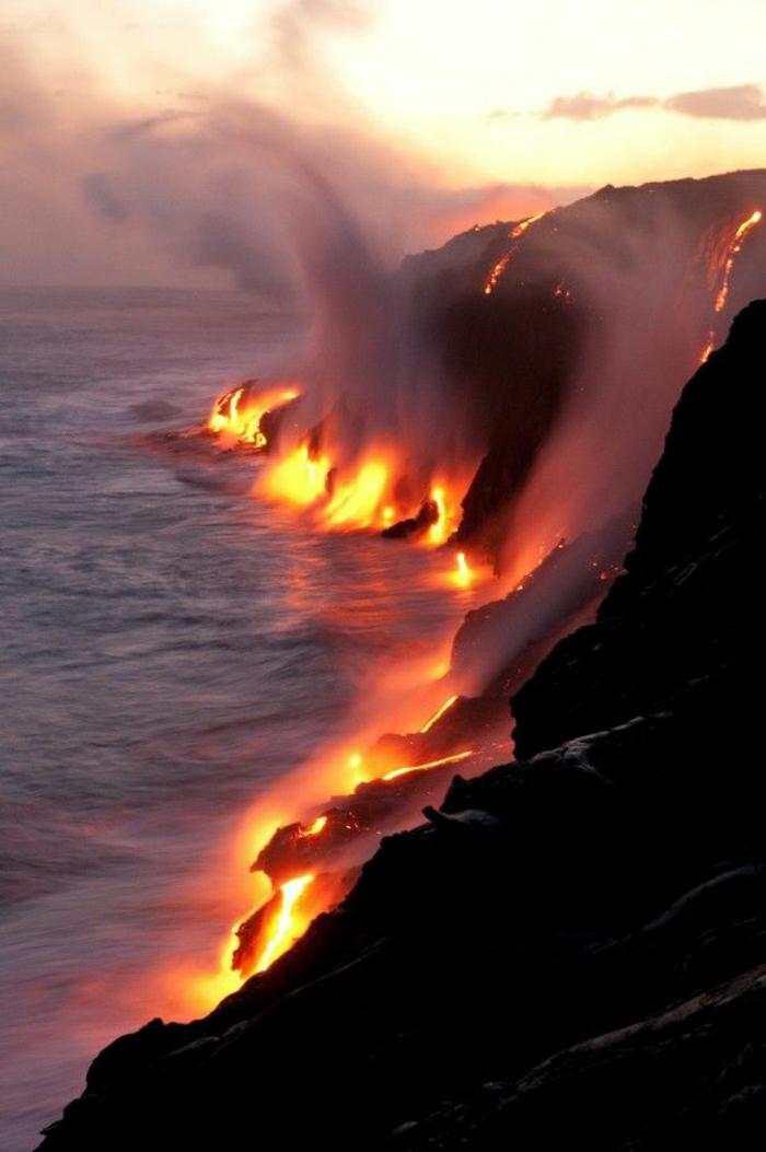 Hawaii-Inseln-Mauna-Loa-flüssige-Lava