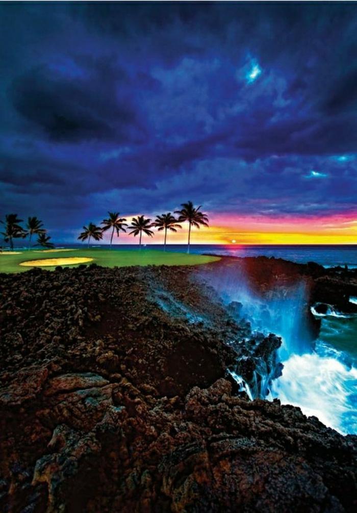 Hilton-Waikoloa-Village-Big-Island-Hawaii-Wasserfall-Palmen