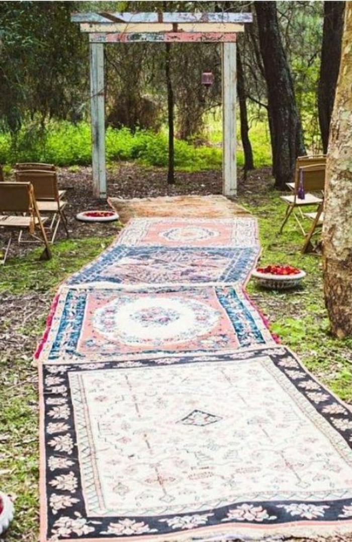 Hochietzeremonie-vintage-Teppiche-Altar