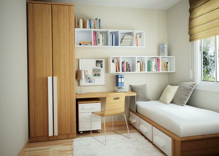 Jügenzimmer-für-Mädchen-Bücherregale