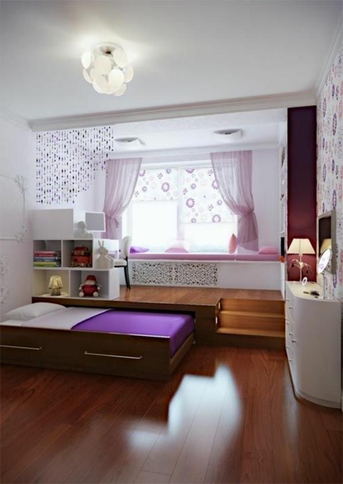 Jügenzimmer-für-Mädchen-Jalousien-Gardinen-Leuchte