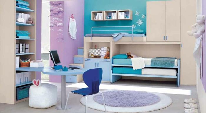 Jügenzimmer-für-Mädchen-blau-lila