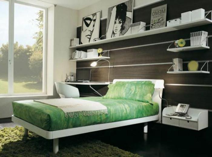 Jügenzimmer-für-Mädchen-braun-grün