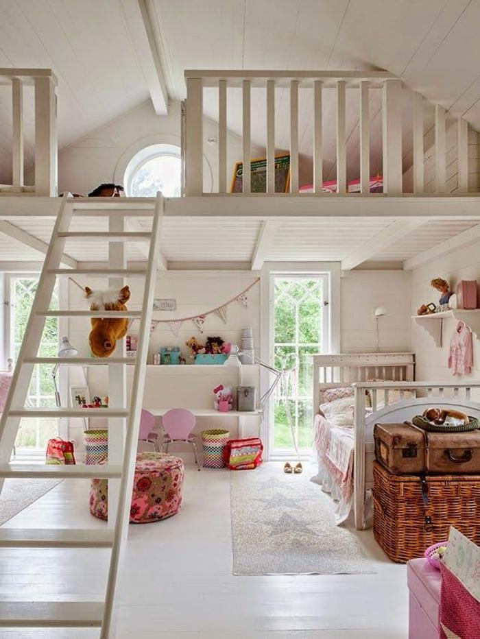 Jügenzimmer-für-Mädchen-dachgeschoss-klein-Bett