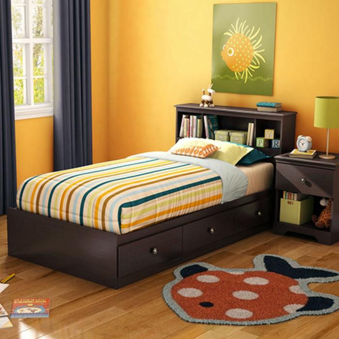 Jügenzimmer-für-Mädchen-klein-orange-Teppich