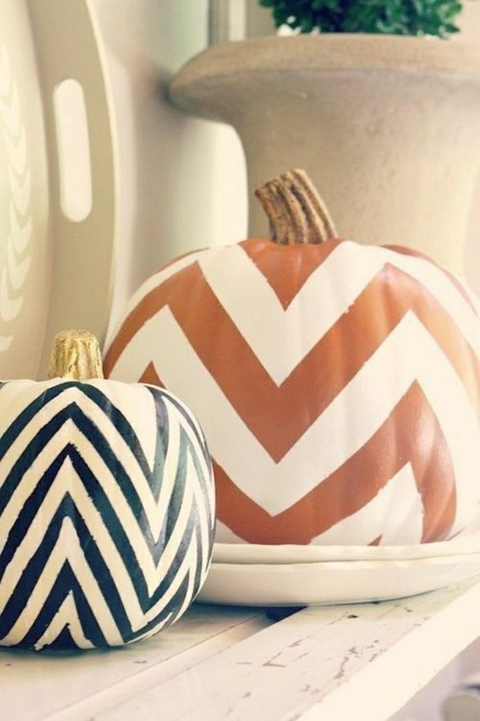Kürbis-bemalen-Winkelförmige-Dekoration-originelle-Idee