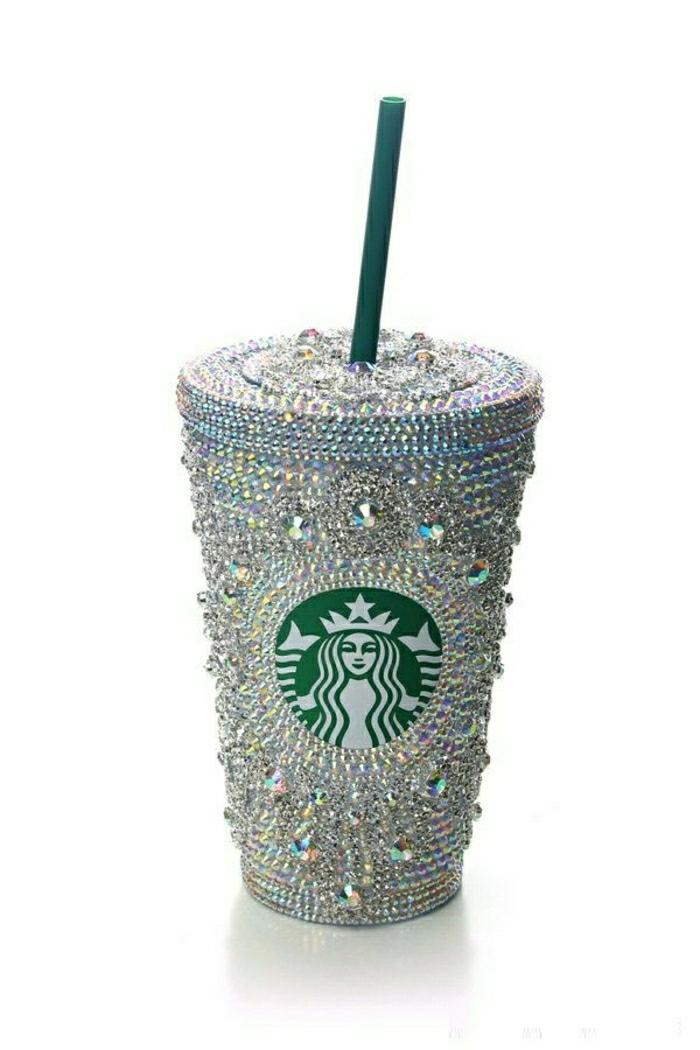 Kaffeebecher-to-go-Starbucks-luxuriöses-Modell-Kristalle-Dekoration
