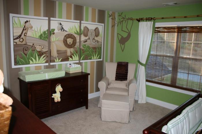 Kinderzimmer-Deko-Bilder-mit-afrikanische-Tieren