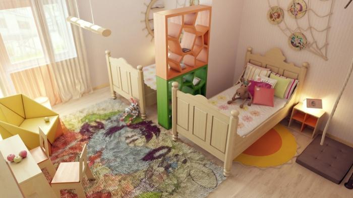 Kinderzimmer-Deko-Trennregal