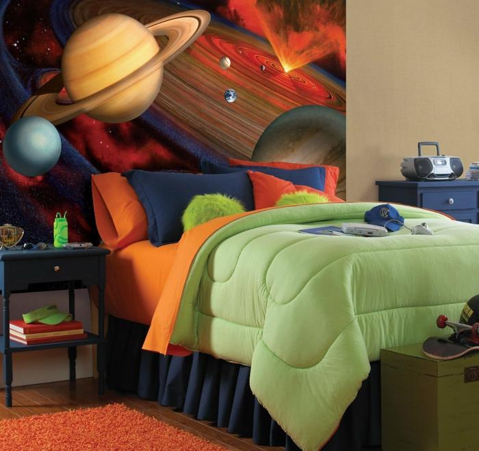 Kinderzimmer-Deko-Weltraum