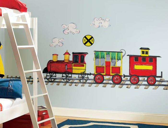 Kinderzimmer-Deko-Zug-unn-Wolke