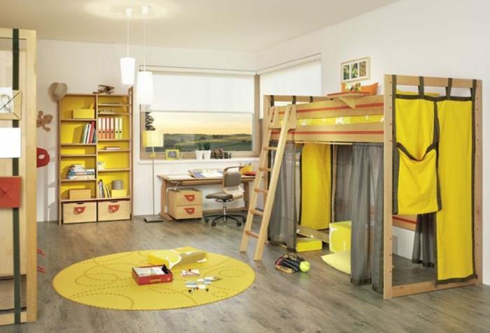 Kinderzimmer-Deko-gelb-und-grau