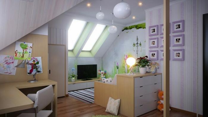 Kinderzimmer-Deko-kleine-lila-Bilder