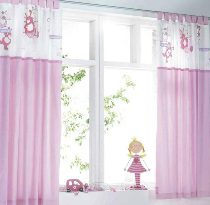 gardinen für kleine fenster - weil sie so nützlich sind - archzine.net - Gardinen Kinderzimmer Rosa Grun
