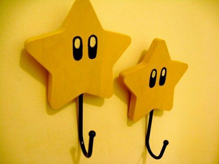 Wandhaken-Super-Mario-Sterne-gelb-süß