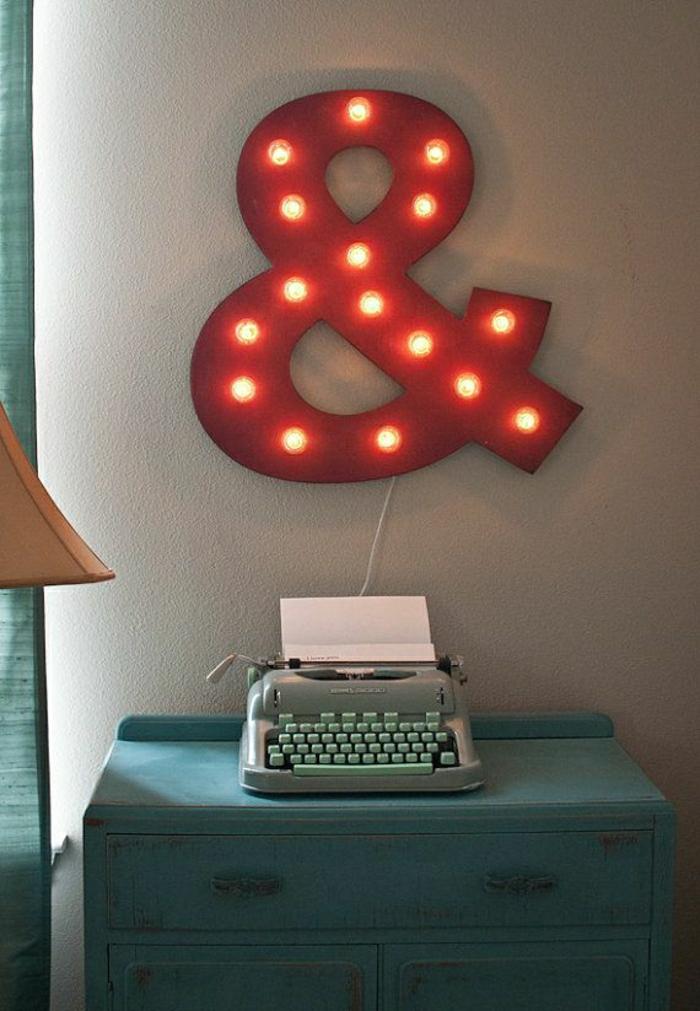 Kommode-elektrische-Schreibmaschine-Minze-Farbe