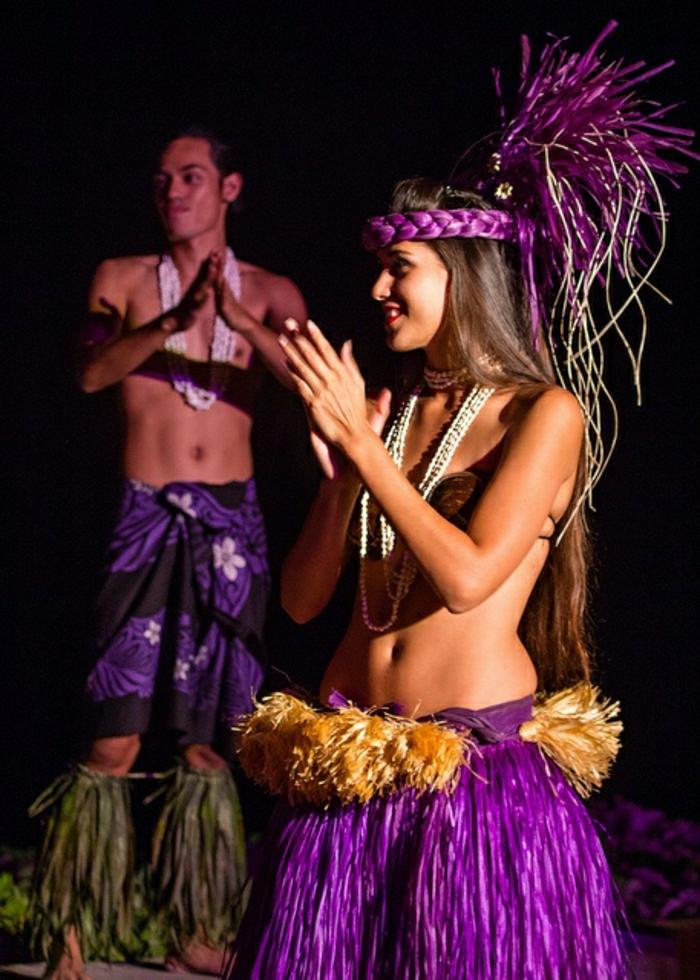 Lahaina-Maui-Insel-Hawaii-Tänzerin