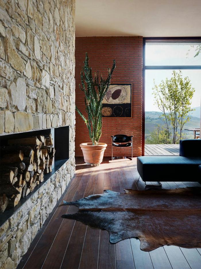 Landhaus-einrichtung-Stein-Wand-Holze