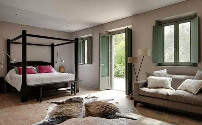 Landhaus-einruchtung-Schlafzimmer-teppich