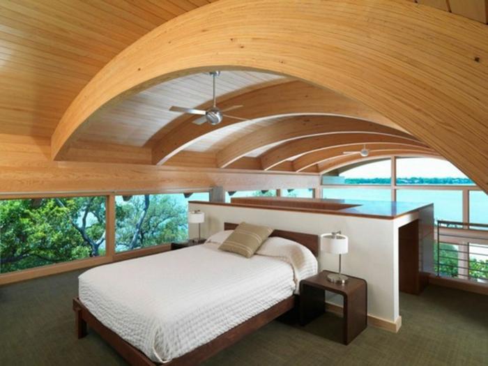 Landhaus-einruchtung-hölzern-dach-schlafzimmre