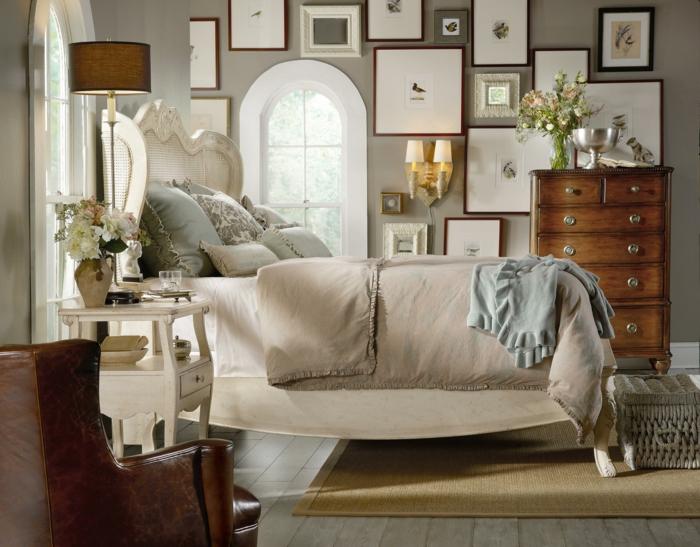 schlafzimmer ideen landhausstil. Black Bedroom Furniture Sets. Home Design Ideas
