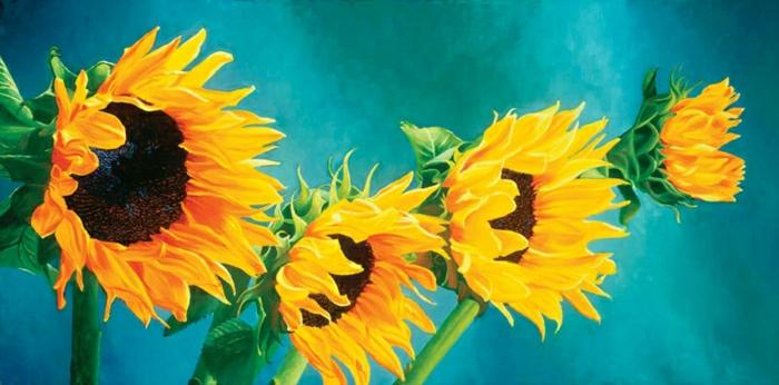 Malerei-Sonnenblumen-Bild-herrlich-Kunst