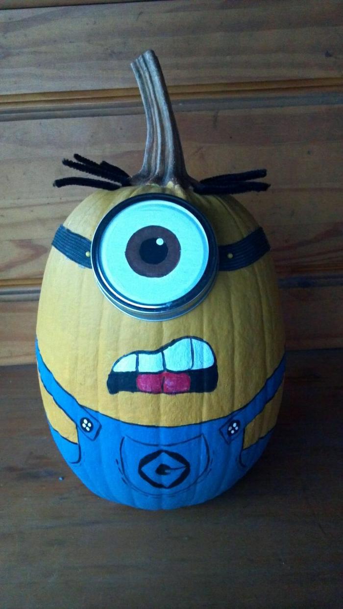 Minion -Kürbis-fantastische-Halloween-Idee-lustig