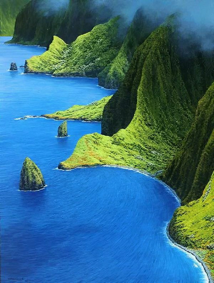 Molokai-Hawaii-Urlaub-Kristallwasser-Grün-exotisch