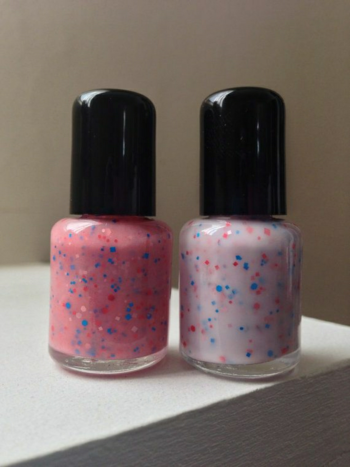 Nagellack-zwei-Farben-glanz-Elemente