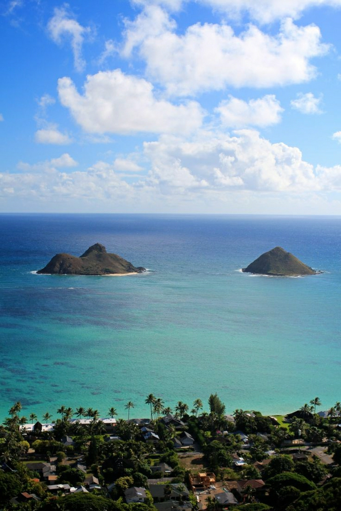Oahu-Insel-Hawaii-Urlaub-exotisch-herrlich-türkis-Wasser-Küste-Villas