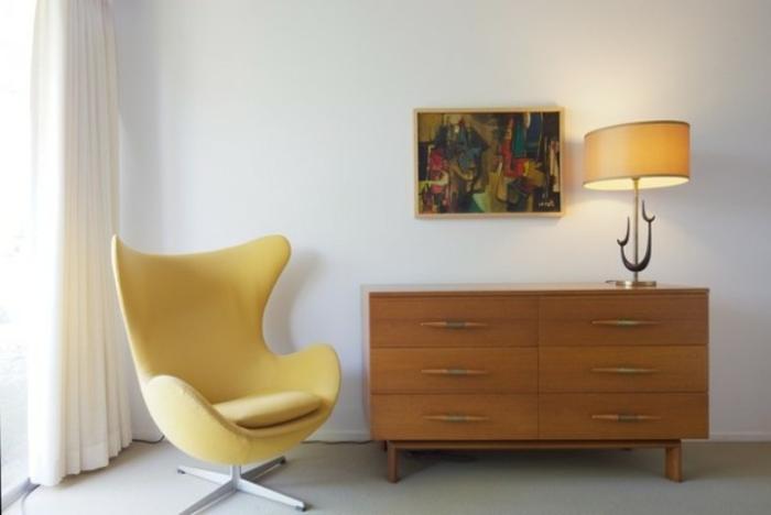 Retro-möbel-gelb-sessel