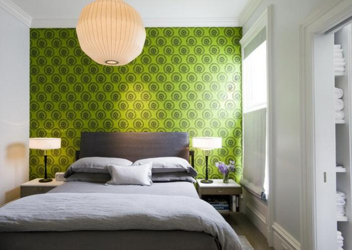 Schlafimmer-Tapeten-modern-grün