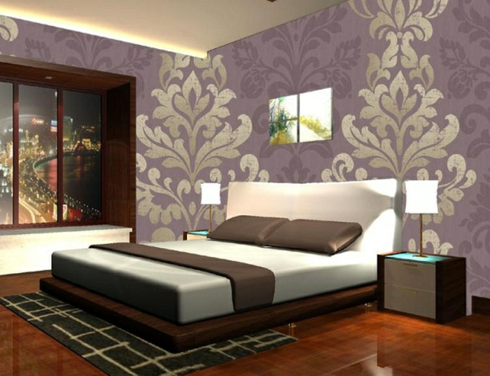 schlafzimmer tapeten f r ein attraktives aussehen. Black Bedroom Furniture Sets. Home Design Ideas