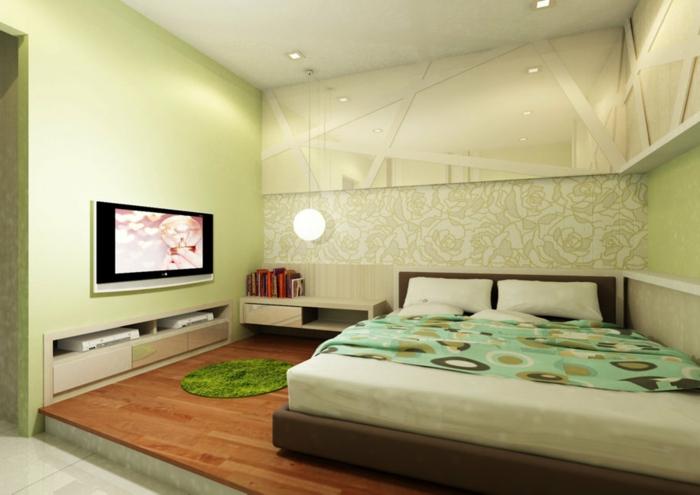 Schlafzimmer-Tapeten-grün