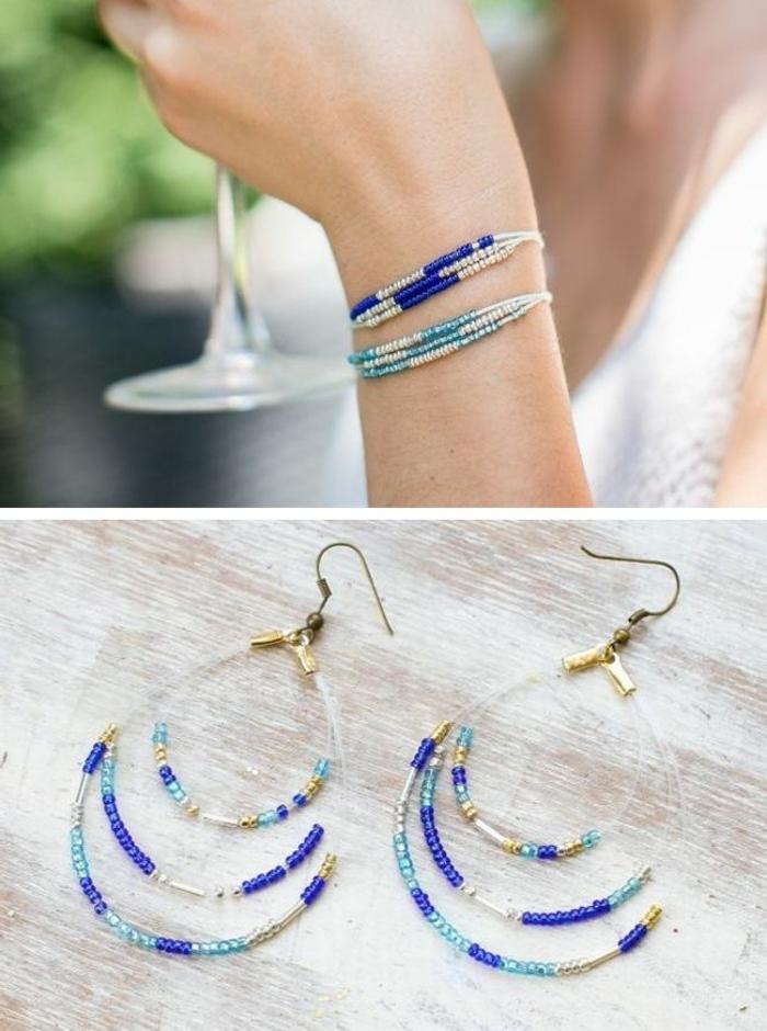 Schmuck-basteln-blau-white