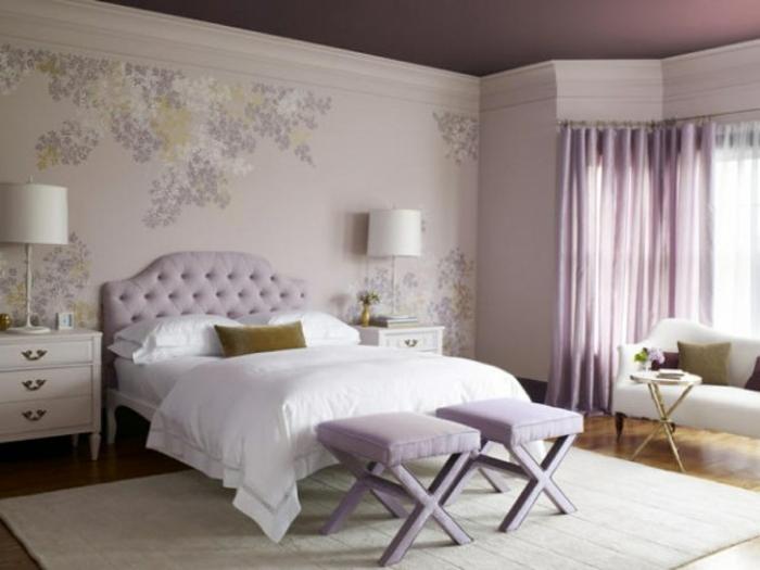 Schlafzimmer : Schlafzimmer Grau Weiß Lila Schlafzimmer Grau Or ... Zimmer Braun Grau