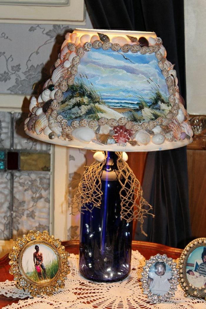 Stehlampe-Deko-mit-Musheln