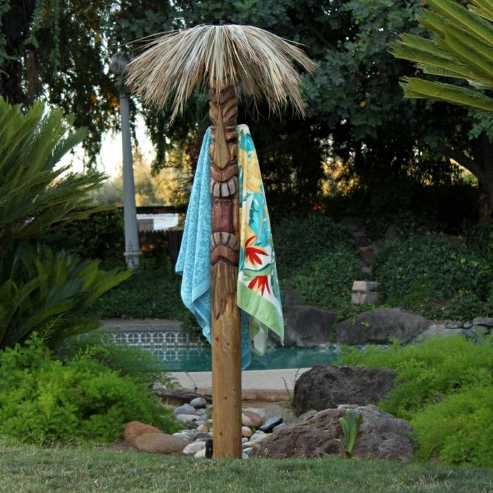Strandtücher-Palmen-Exotik-Sommer
