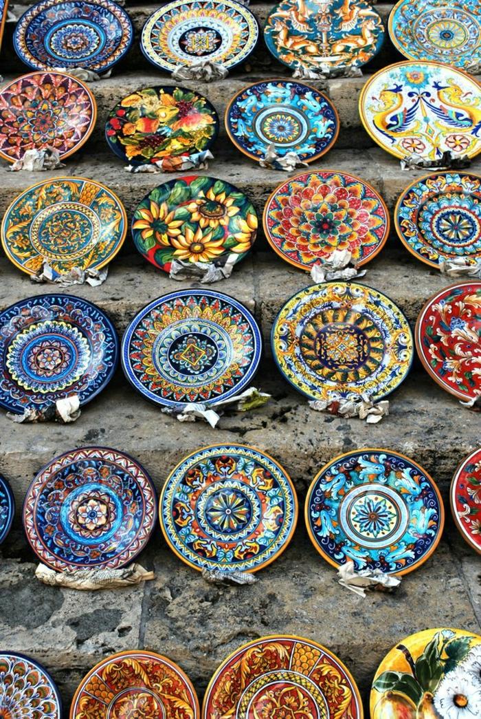 Töpferei-Geschirr-Keramikplatten-Perugia-Italien