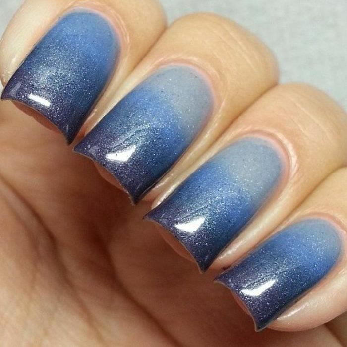 Thermo-Nagellack-Ombre-Effekt-blau-Glanz