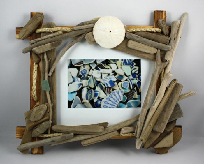 ... Größen handgemachten Bilderrahmen aus Treibholz wählen