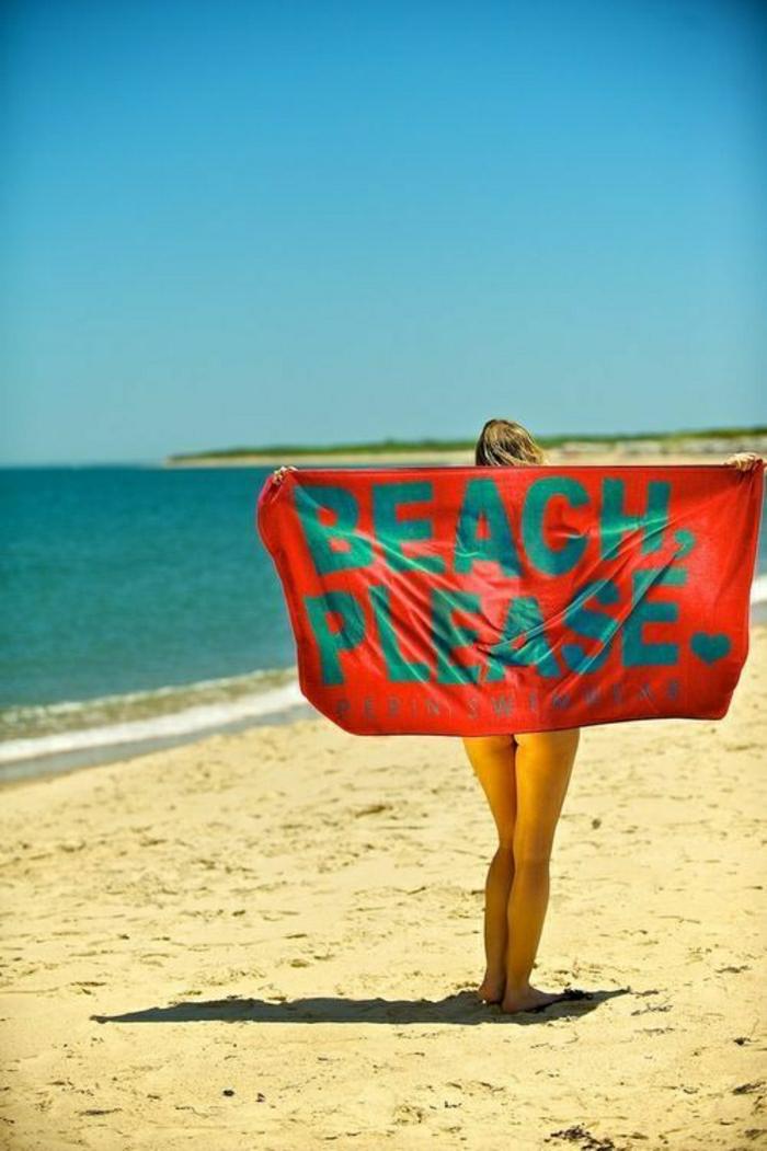 Tuch-Strand-interessante-Aufschrift-Beach-Please