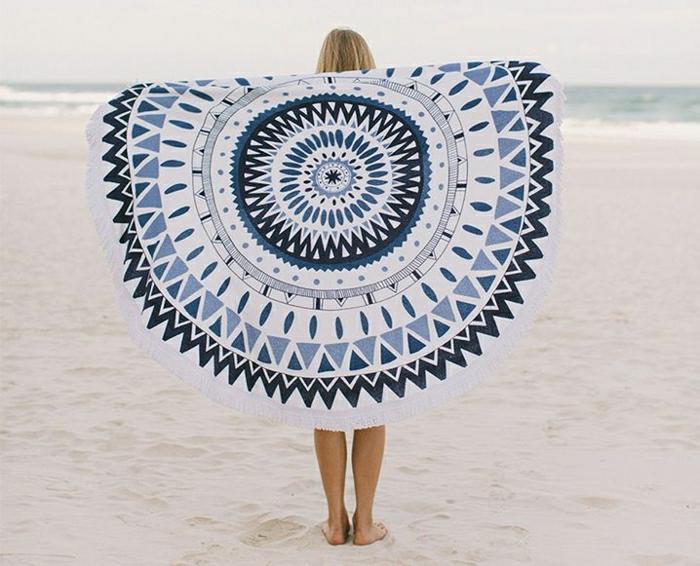 Tuch-Strand-runde-Form-Boho-Chic-Stil